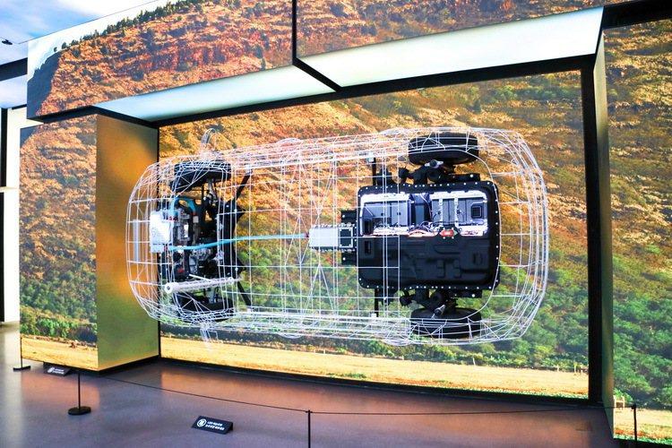 IONIQ系列在Starfield購物中心的現代汽車Motorstudio以創意方式呈現。 記者史榮恩/攝影