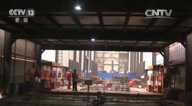 北京地铁3号线施工现场。撷取自大陆央视新闻