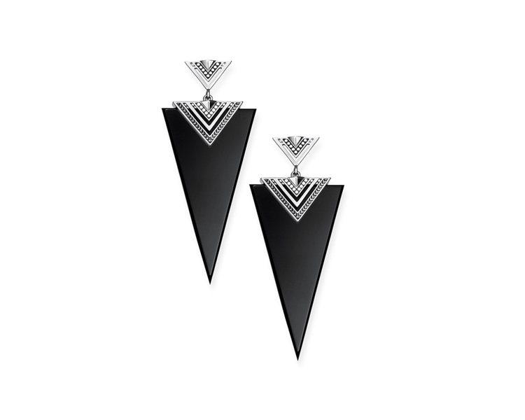 民族風黑瑪瑙三角耳環,8,980元。圖/THOMAS SABO提供