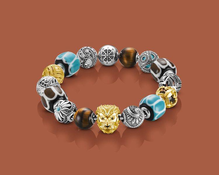 非洲風雄獅串珠手鍊,39,940元。圖/THOMAS SABO提供