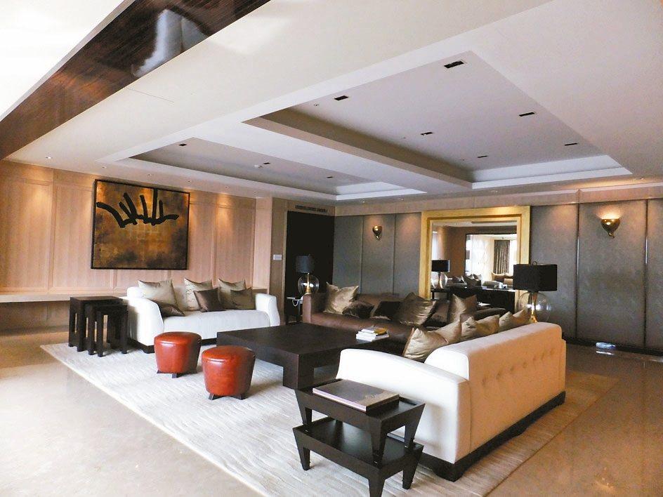 名媛陸勝文帝寶客廳的一角。 記者游智文/攝影