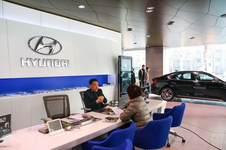 現代汽車為於首爾的GDSI展間。 記者史榮恩/攝影