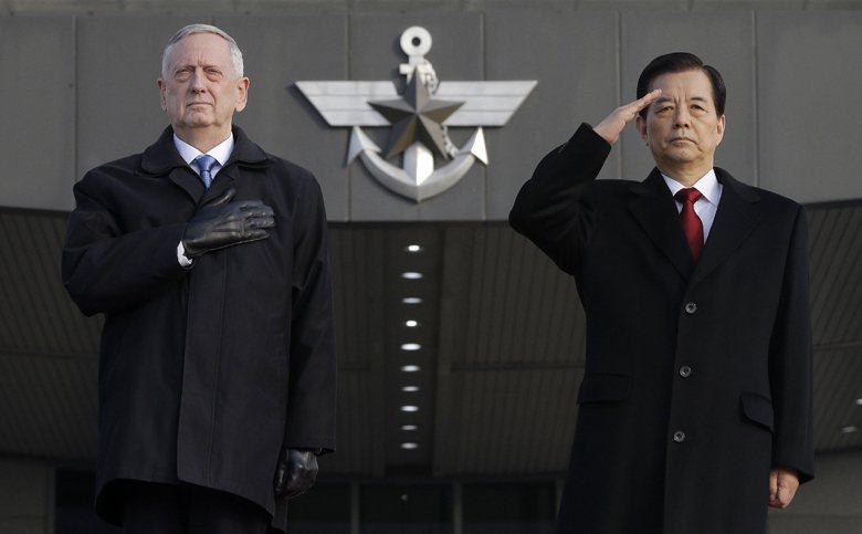 美國國防部長馬蒂斯於2月2日抵達南韓進行他上任後第一次外訪,並表示,北韓核武議題...