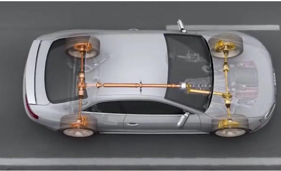 Audi的Quattro系統。 截自Car Throttle影片