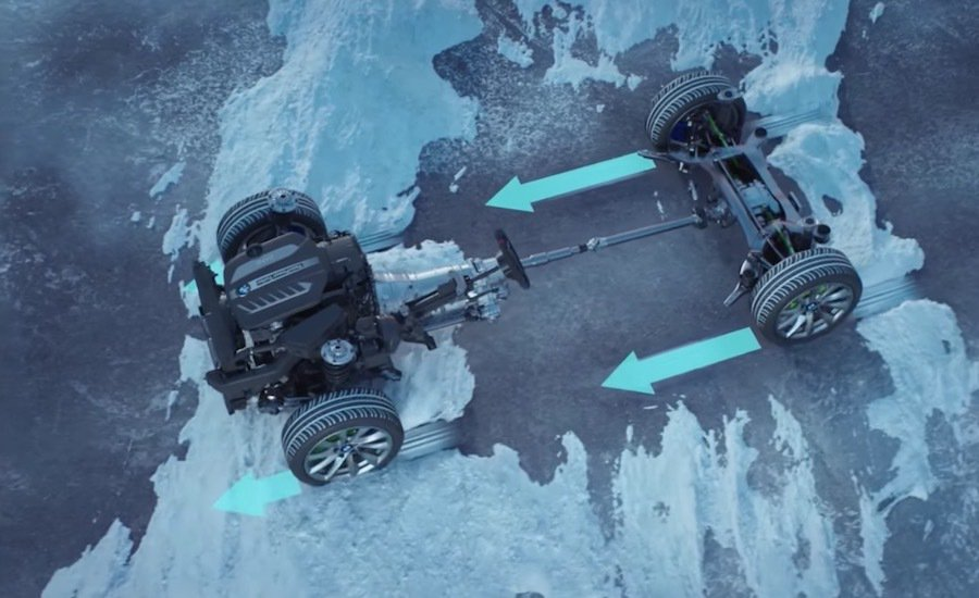 BMW的xDrive系統。 截自Car Throttle影片
