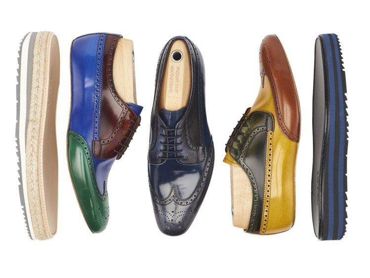 PRADA三月首度在台推出男性厚底牛津鞋訂製服務。圖/PRADA提供