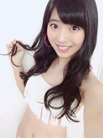 馬嘉伶日前首度體驗拍泳裝照。圖/摘自AKB48臉書
