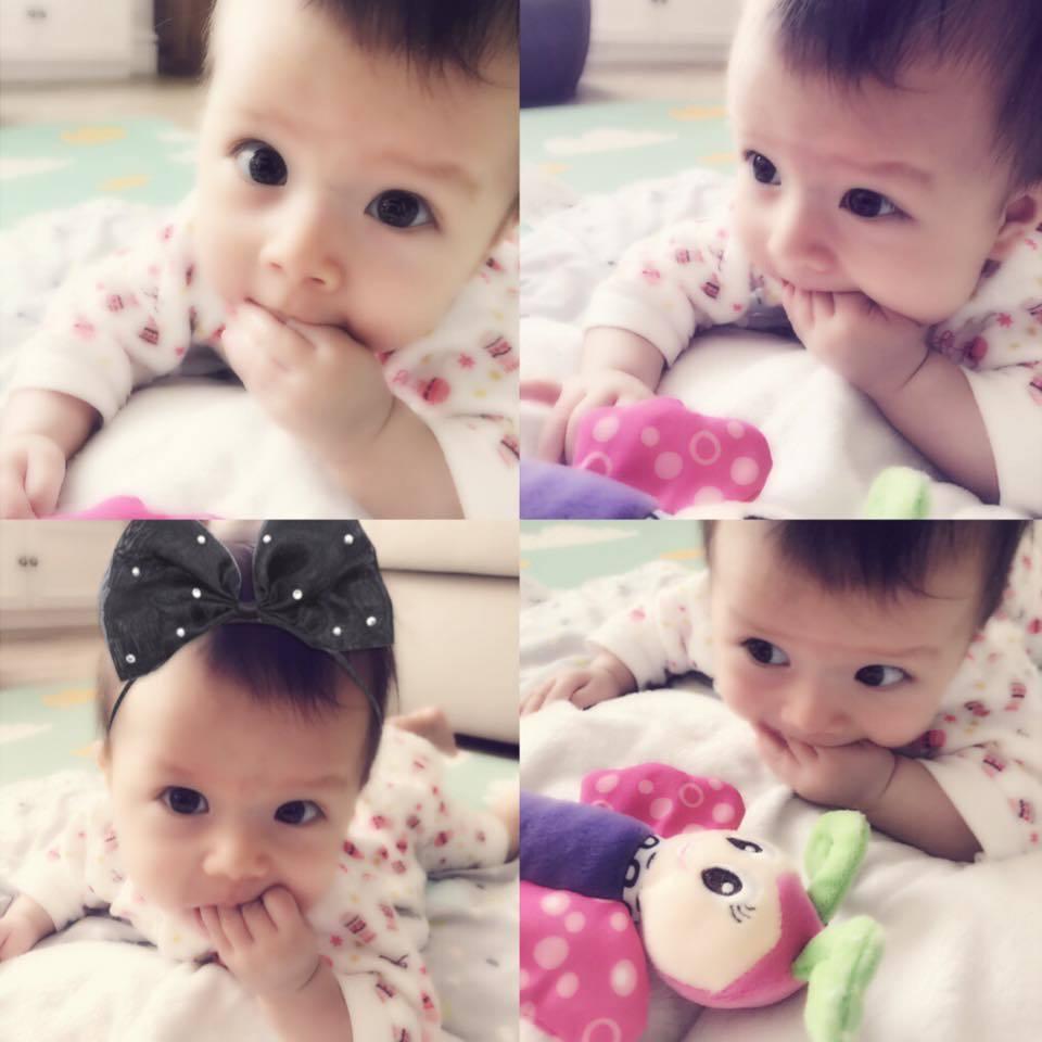 瑞莎的寶貝女兒NIKA超可愛,將是NUNUNU的最佳代言人。圖/擷自瑞莎臉書