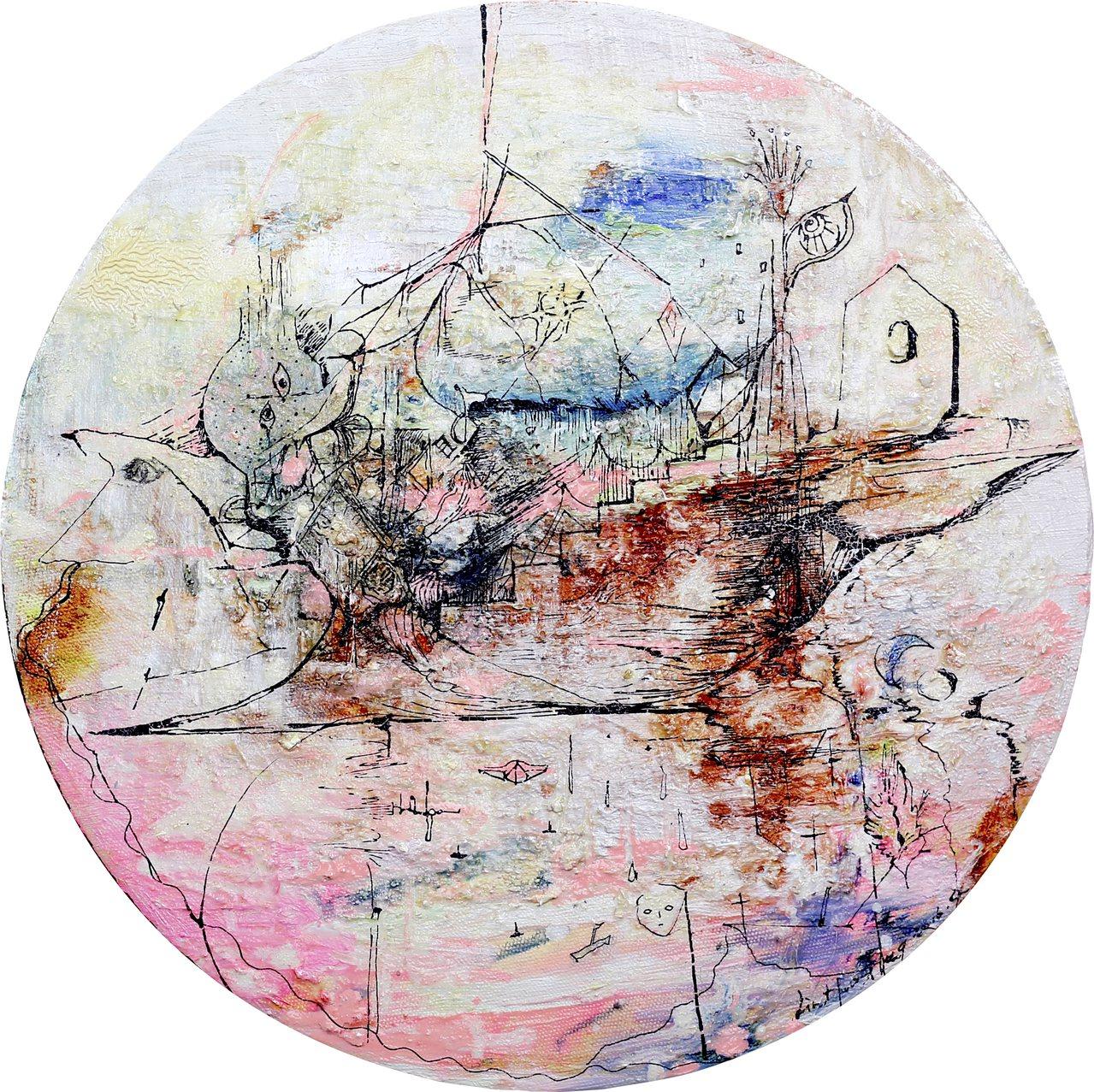 青年藝術家林慧姮於本次採訪計畫後,為秀赫所作之畫。圖/林慧姮提供