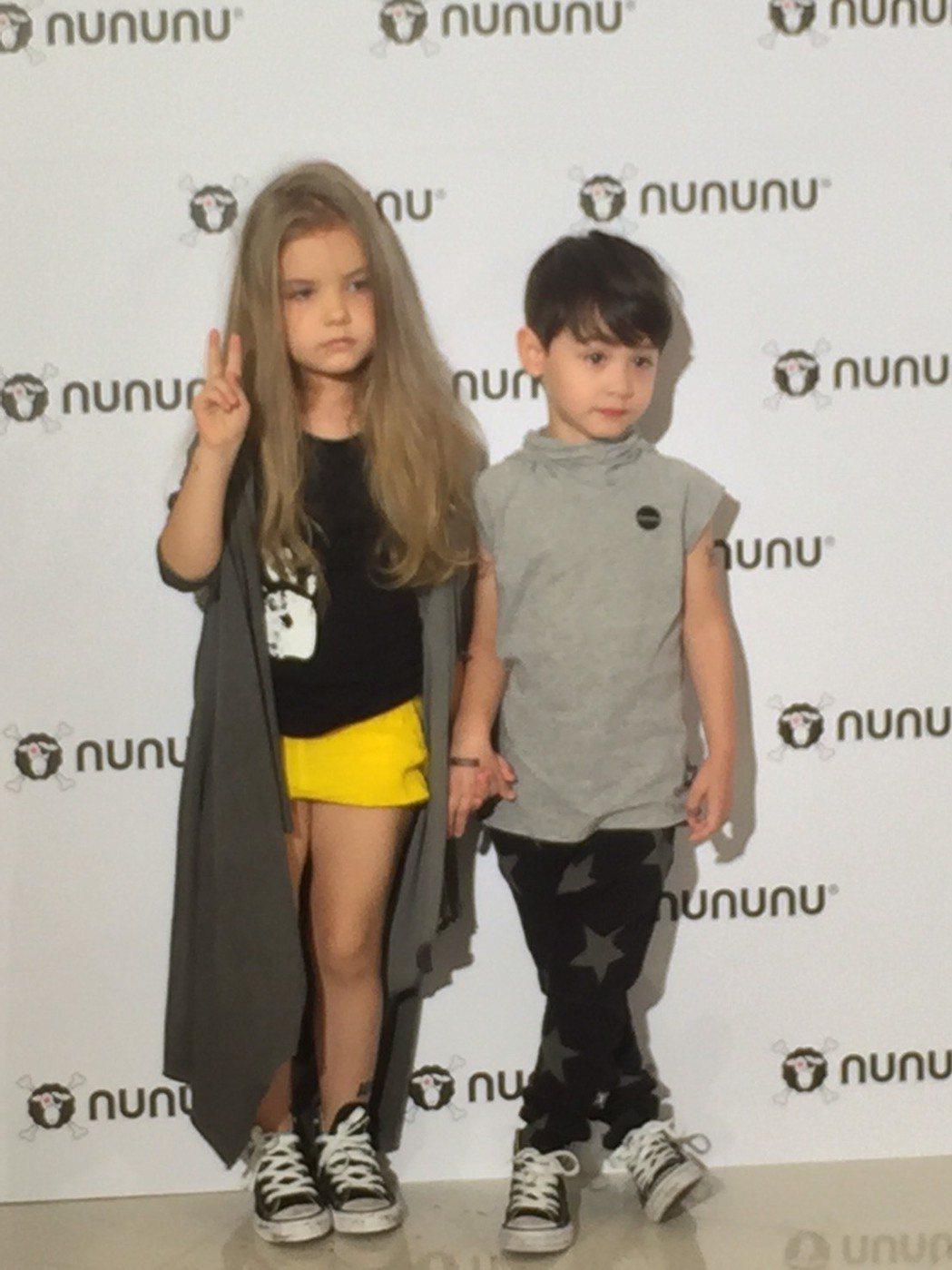 瑞莎引進NUNUNU童裝,風格帶有一點酷。記者陶福媛/攝影