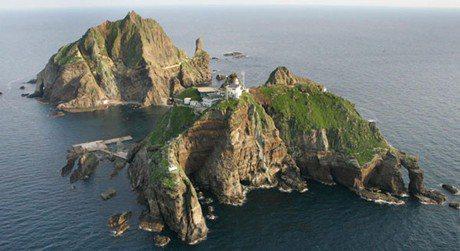 受到日韓兩國爭端的島嶼「獨島」。 圖/摘自維基