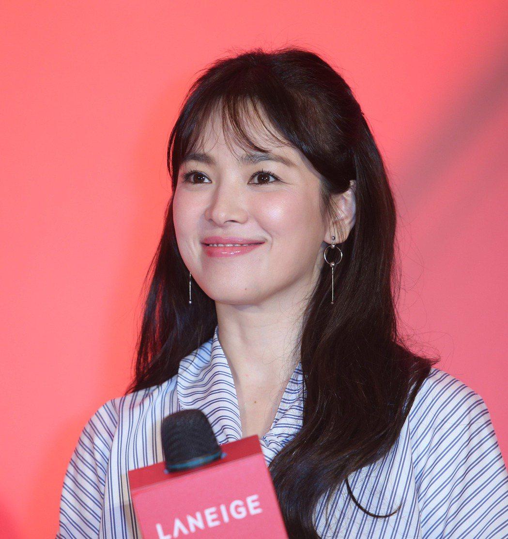 韓星宋慧喬來台出席活動。記者陳瑞源/攝影