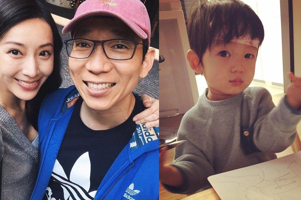 隋棠和老公努力帶好孩子。  圖/摘自臉書