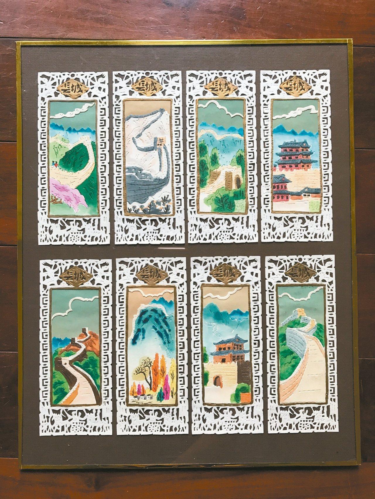 絕版品購自香港,幾已絕版的剪紙書籤。 記者仝澤蓉/攝影
