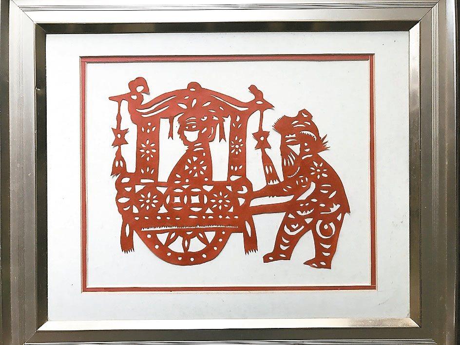 這張仿自胡錦濤的回娘家,是儲孫寬本人的作品。 記者仝澤蓉/攝影