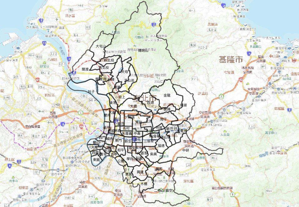 雖然次分區並非實際存在的行政單位,但卻符合市民的地理認同範圍。 圖/柯達提供