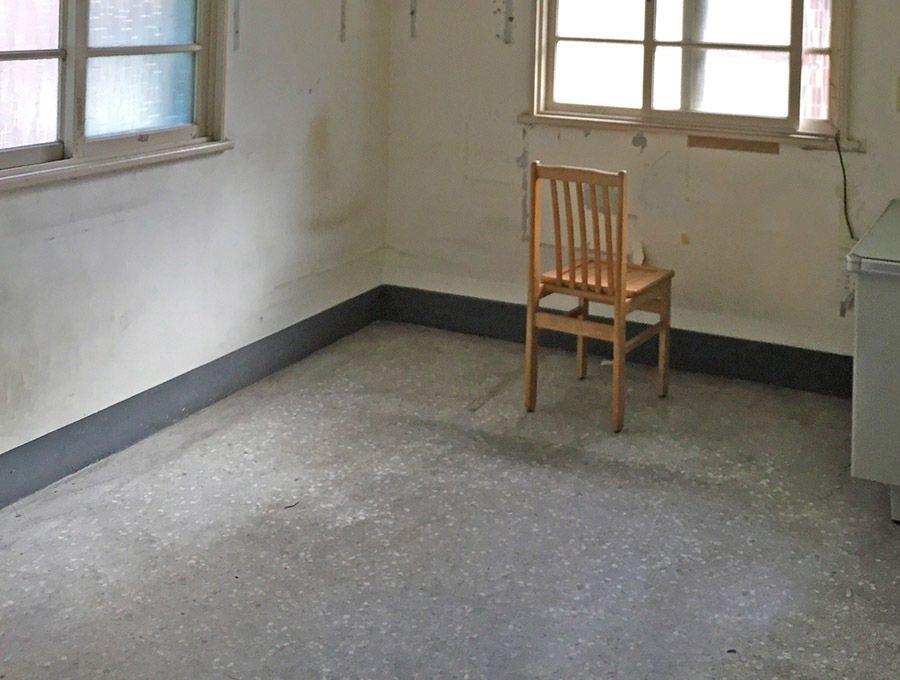 不適合長輩的磨石子地板。 圖/林黛羚提供
