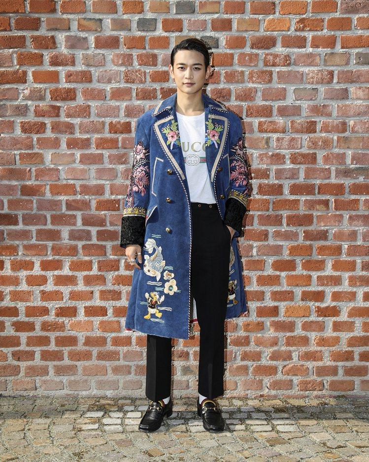 韓國男星崔珉豪。圖/Gucci提供