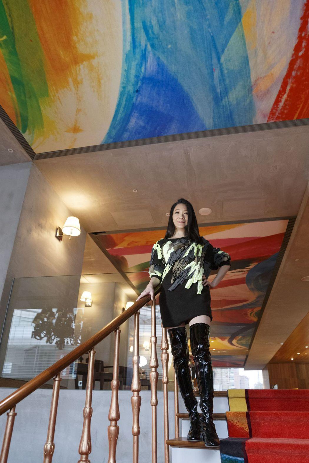曲家瑞為汪小菲的新飯店S Hotel加入許多藝術元素。圖/華研提供