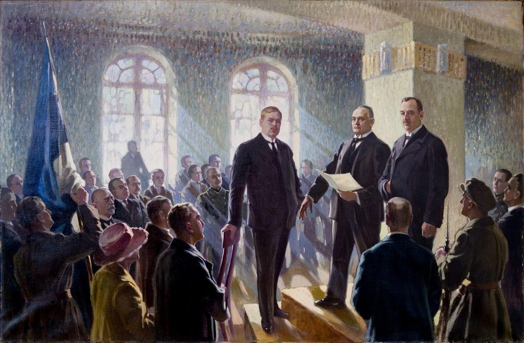 救國委員會起草了「致愛沙尼亞人民宣言」,並於德軍進犯前一天,也就是1918年2月...