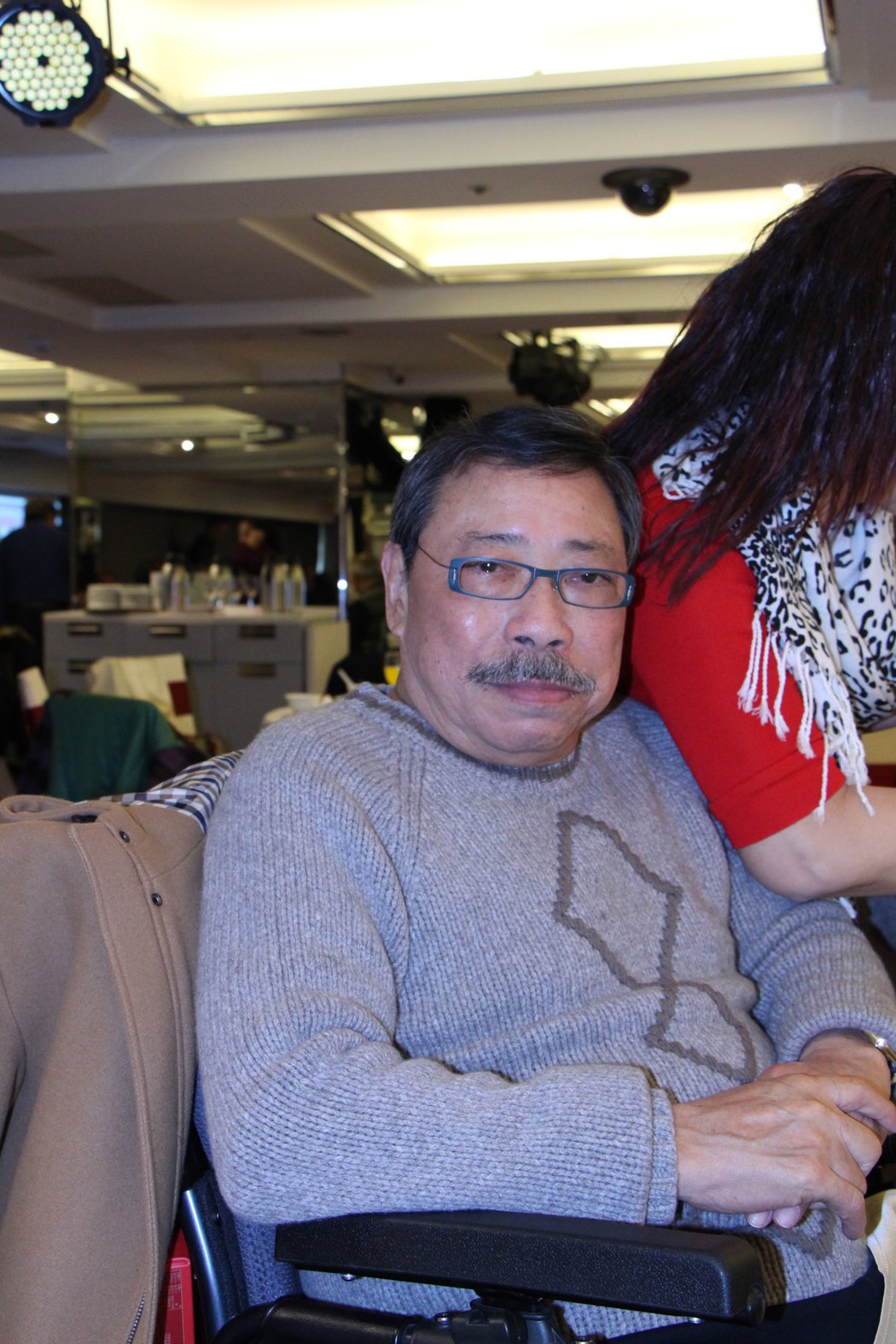 影帝陳松勇今年1月參加資深藝人餐會,就說過身體不好,眼睛要去開刀。圖/中視提供