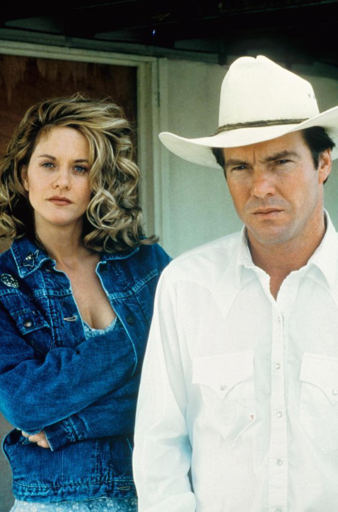 梅格萊恩與丹尼斯奎德曾是好萊塢受到矚目的高知名度夫妻檔。圖/摘自Cineplex