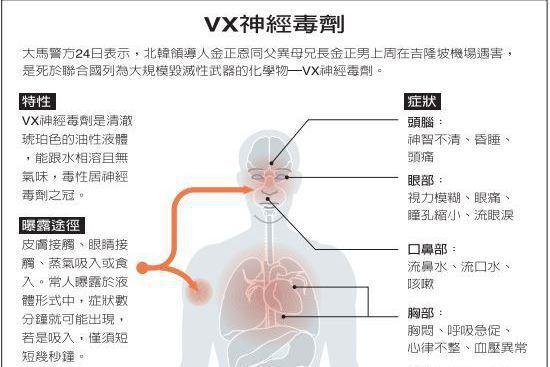 恐怖VX神經毒 要了金正男的命