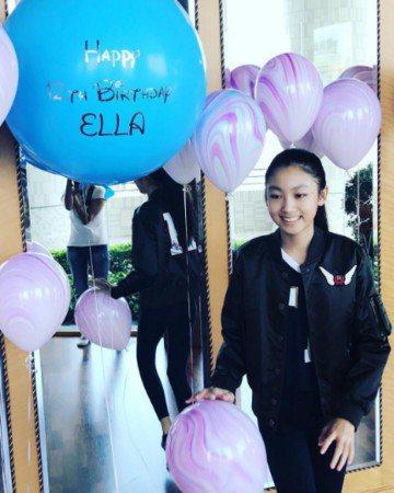 任達華、琦琦的女兒任晴佳Ella擁有極高人氣。圖/取自於微博