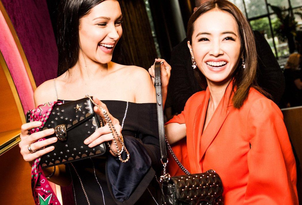 流行天后蔡依林Jolin與寶格麗配件品牌大使Bella Hadid 一同出席寶格