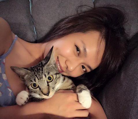 夏于喬與吳慷仁分手後,就養了愛貓夏雪寶。圖/摘自夏于喬臉書