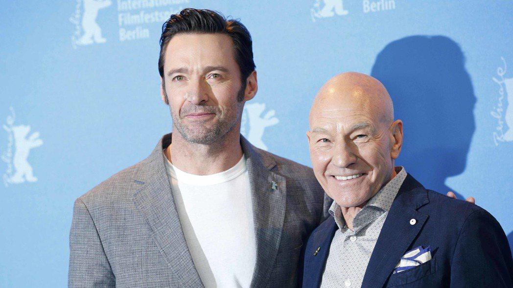 飾演「金鋼狼」的休傑克曼(左)及飾演「X教授」的派屈克史都華(右)將訪台3天宣傳