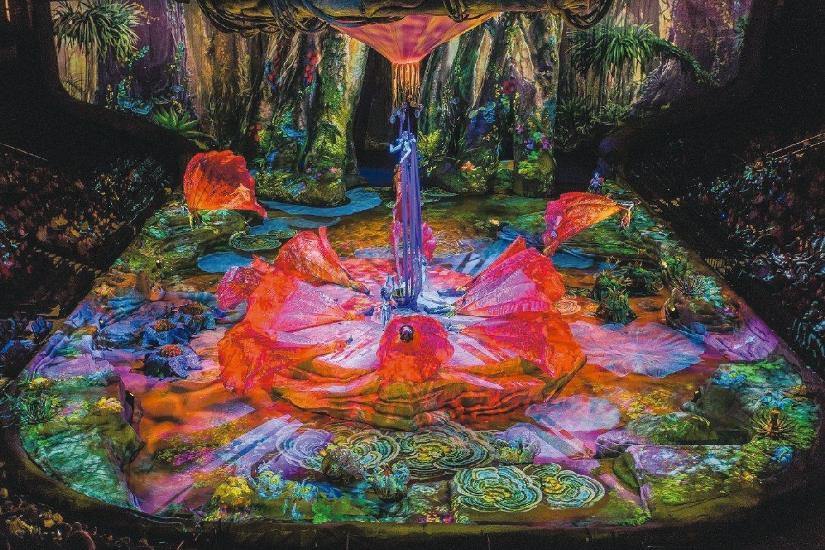 《阿凡達前傳》利用4D投影技術,呈現潘朵拉星球中豐富的地景樣貌。 圖/聯合數位文...