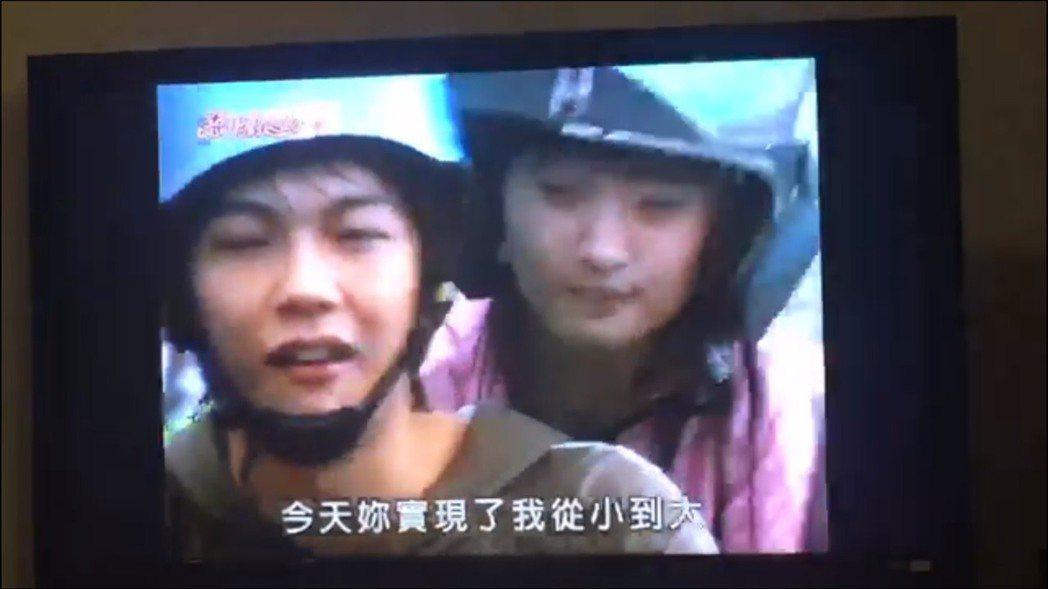 汪東城當年在「惡」劇中飾演「阿金」和林依晨約會。圖/摘自瞿友寧臉書