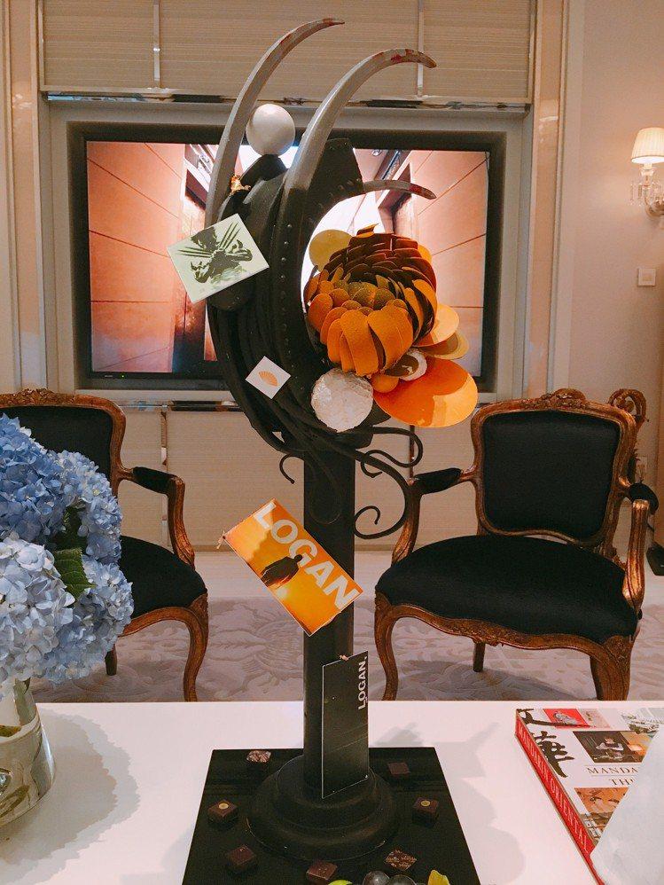 休傑克曼客房安排金鋼爪造型巧克力。圖/台北文華東方酒店提供
