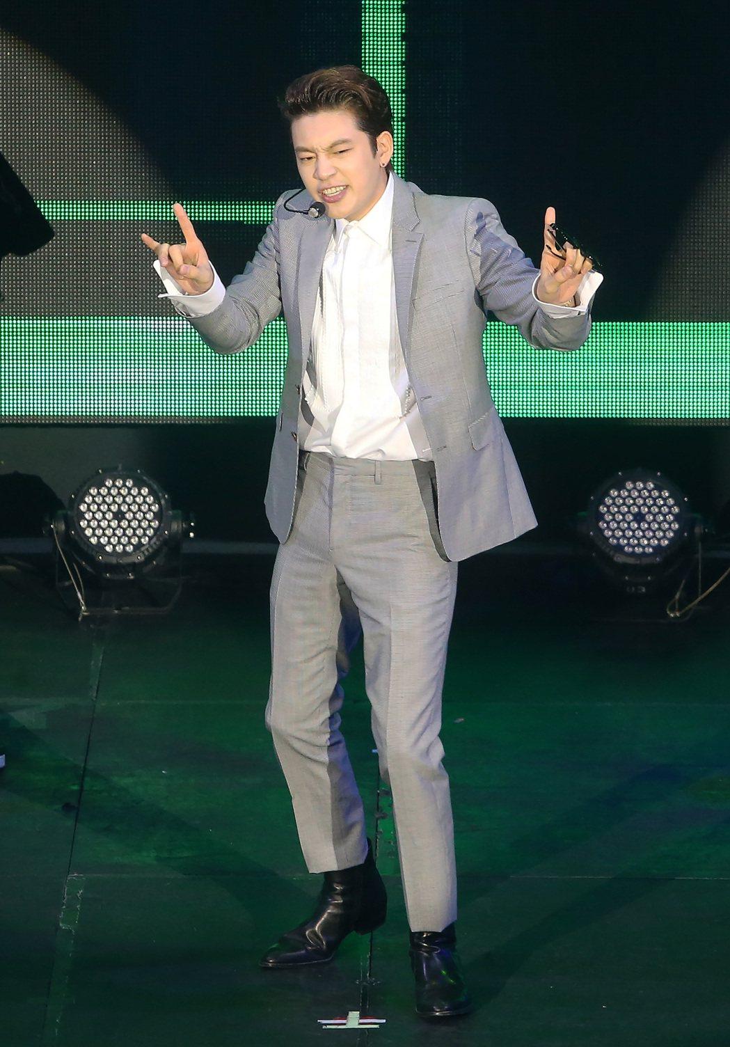 韓星SE7EN晚上舉行歌迷見面會。 聯合報系資料照片  記者胡經周/攝影