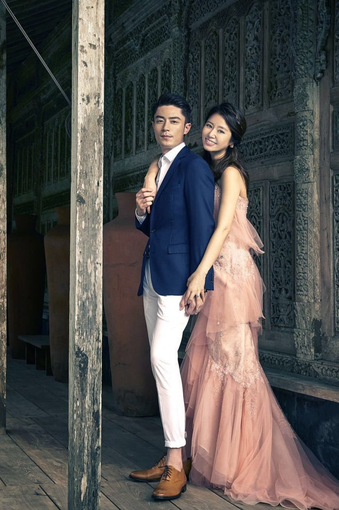 霍建華(左)與林心如的婚禮是華人演藝圈大事。圖/林心如工作室提供