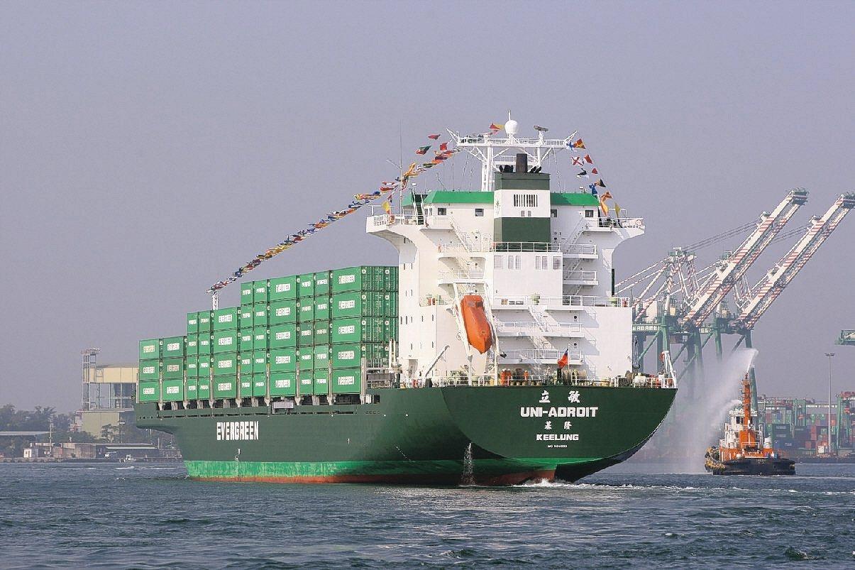 圖為長榮海運貨櫃船。 報系資料照