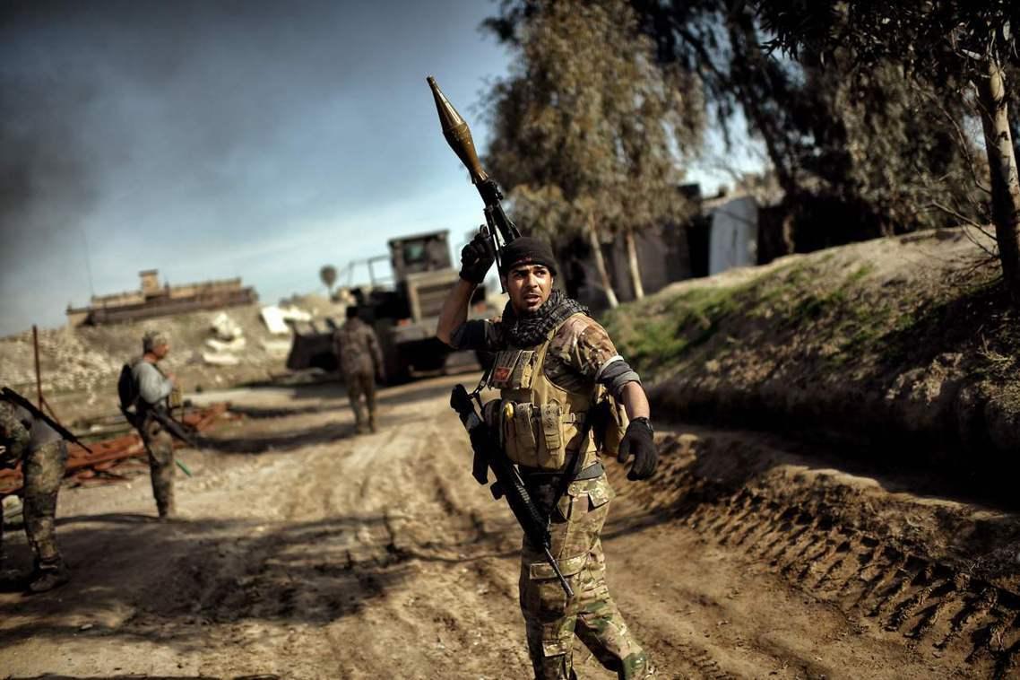 決戰ISIS:伊拉克軍隊完成摩蘇爾包圍網。 圖/法新社
