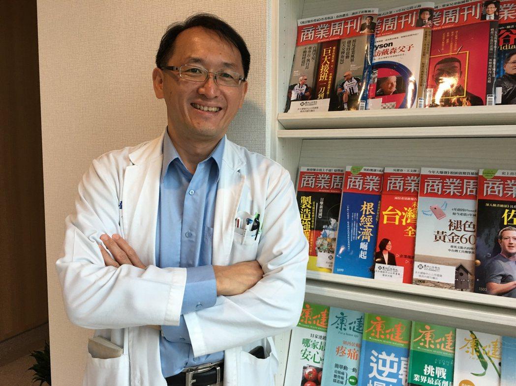 馬偕紀念醫院肝臟醫學中心主任林俊昌。 記者鄧桂芬/攝影
