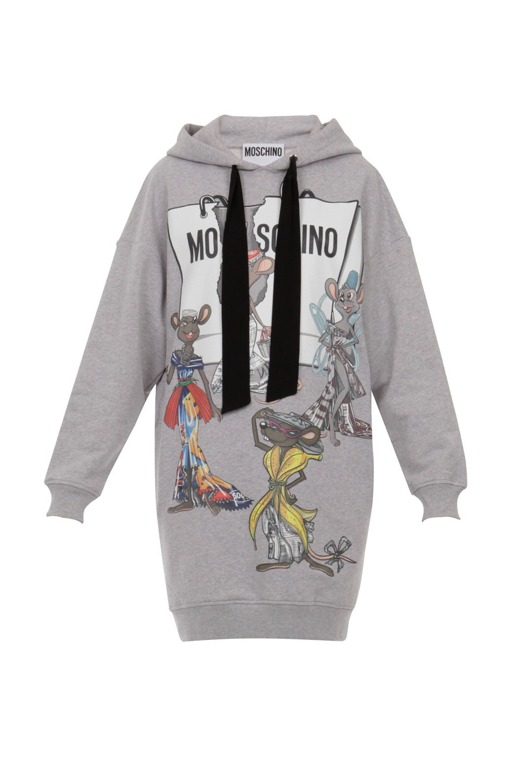 老鼠印花洋裝,29,800元。圖/MOSCHINO提供