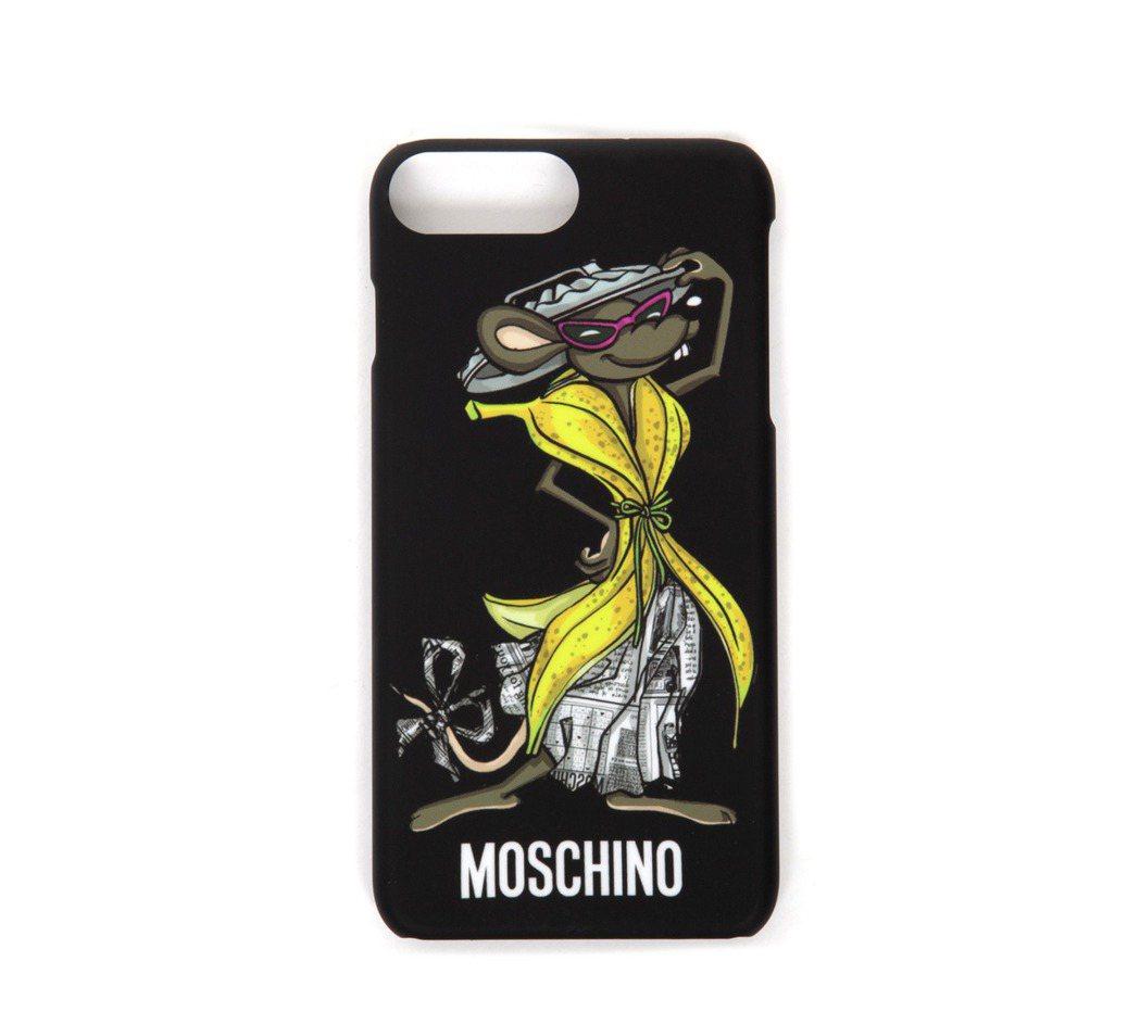 老鼠印花iPhone 7 PLUS手機殼,2,500元。圖/MOSCHINO提供