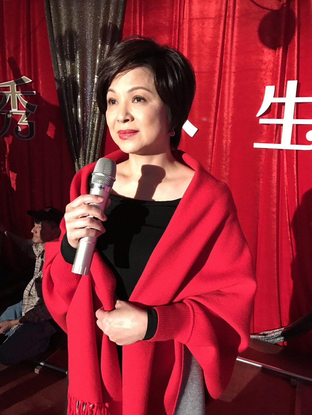 楊貴媚今天在基隆,開拍她的錦繡人生演唱會。記者吳淑君/攝影