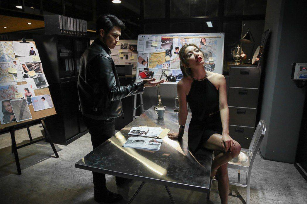 陽岱鋼在微電影中化身偵探與美麗女星演對手戲。圖/精緻公關提供