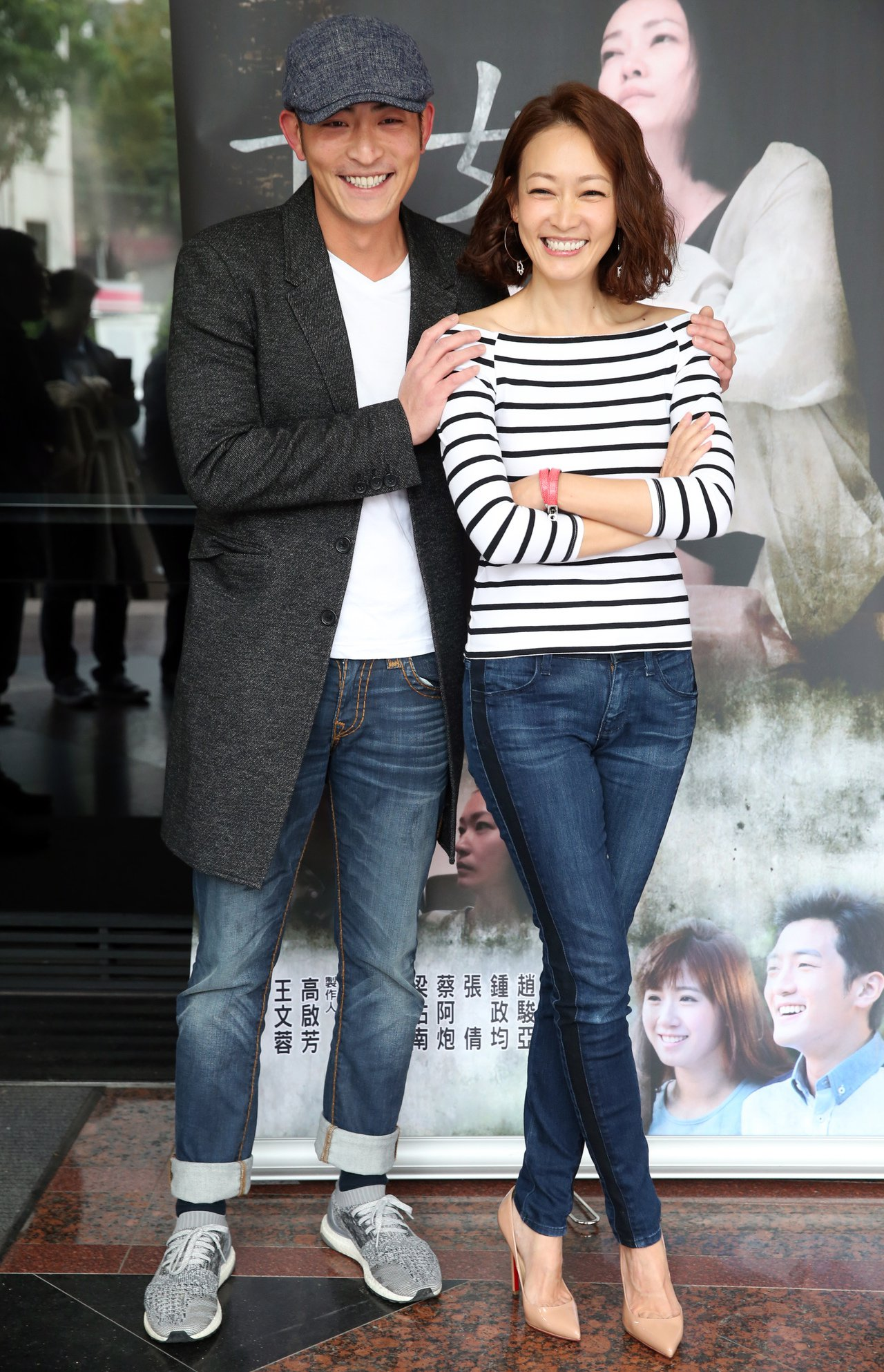 潘慧如(右)、趙駿亞(左)出席公視《十女》記者會宣傳新戲。記者徐兆玄/攝影