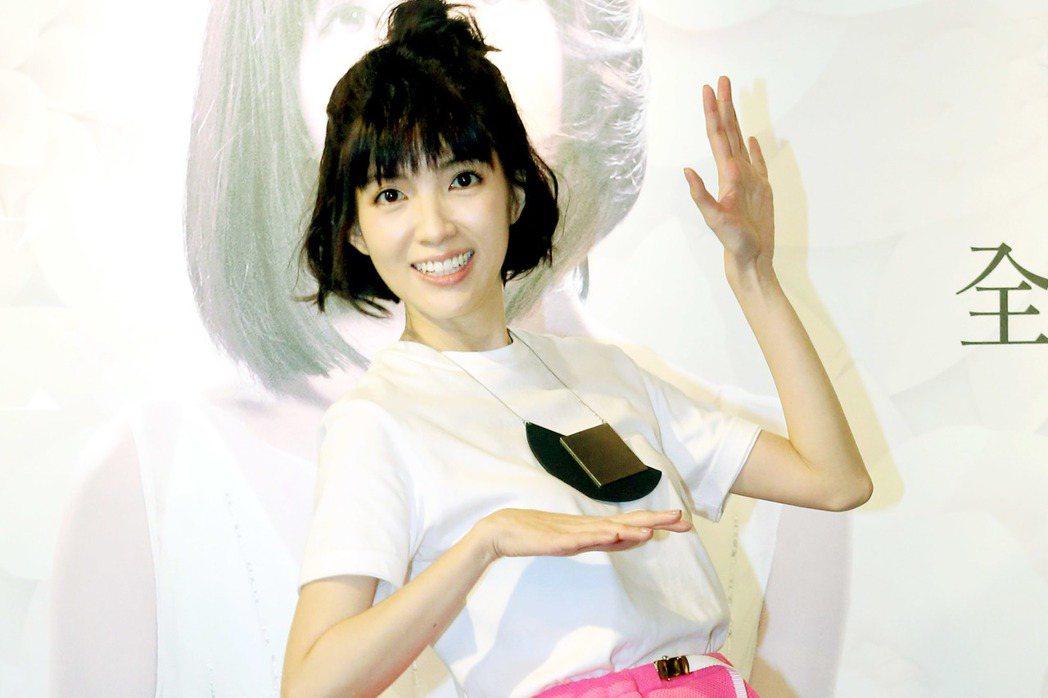 被譽為「新加坡勵志女神」的歌手郭美美,睽違六年再度來台推出全新專輯。記者屠惠剛/...