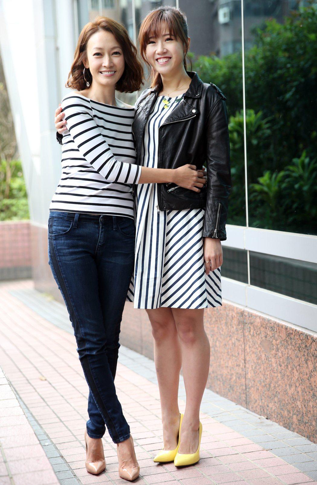 方志友(右)、潘慧如(左)出席公視《十女》記者會宣傳新戲。記者徐兆玄/攝影