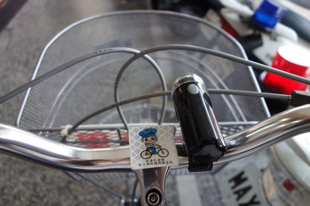 高市警局8年前全國首創單車烙碼,單車失竊也因烙碼後,更容易找到失主。 本報資料照...