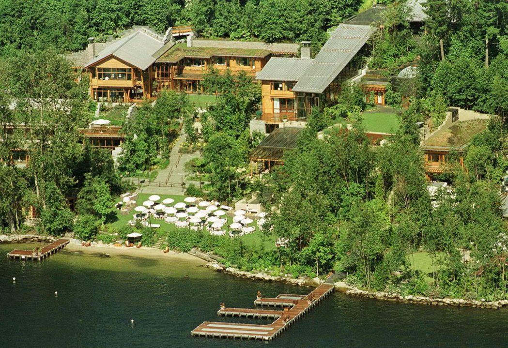 比爾蓋茲位於美國華盛頓州的豪宅。 路透
