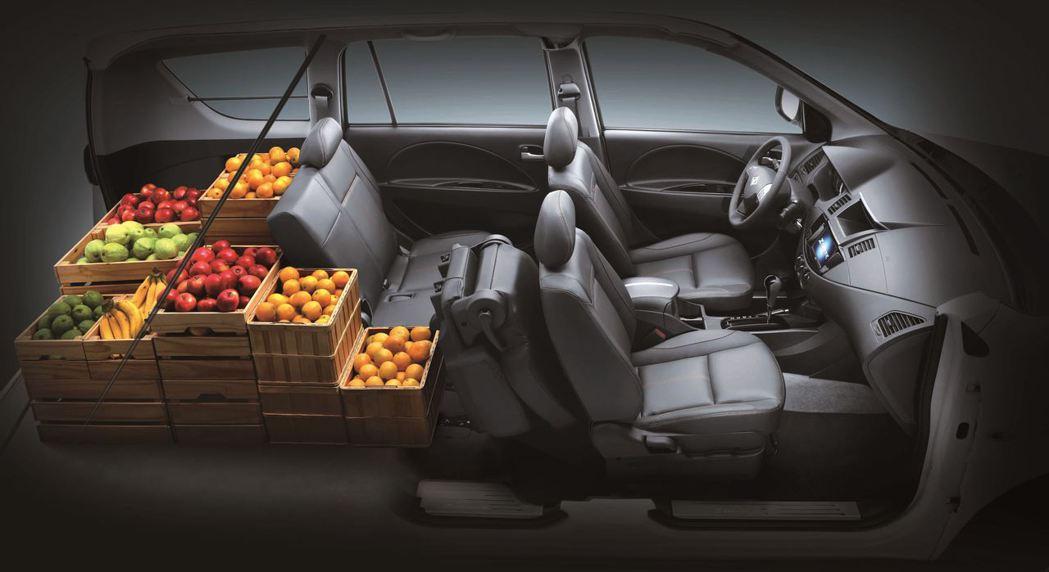 ZINGER以「車室大空間多變化」及「油耗省」等產品特點,為商旅車首選車款。 圖/中華三菱提供