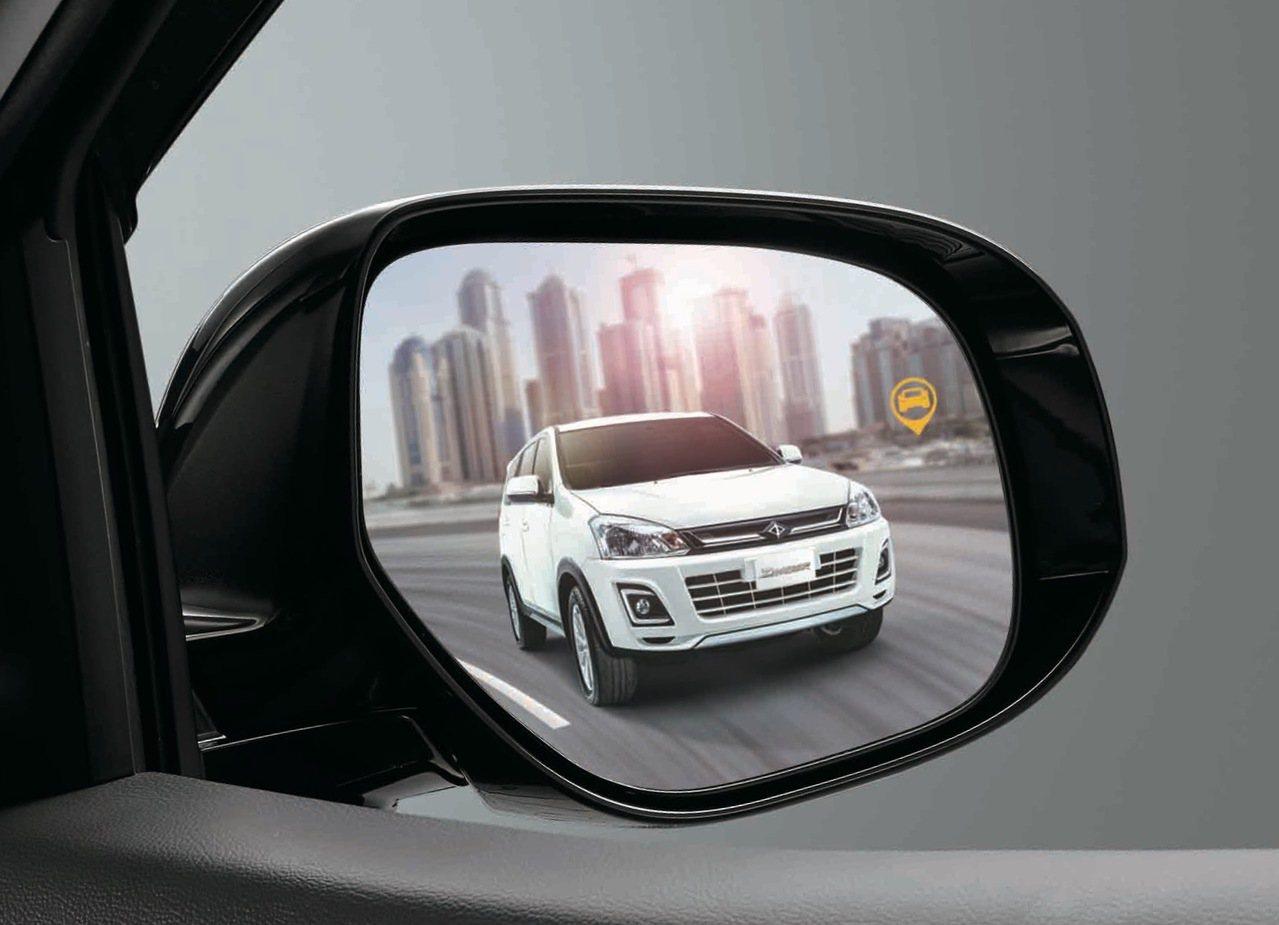 全新ZINGER加載三合一盲區偵測警示系統,提供360度防護行車安全。 圖/中華三菱提供